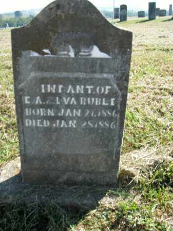 RUBLE, INFANT - Boone County, Arkansas | INFANT RUBLE - Arkansas Gravestone Photos