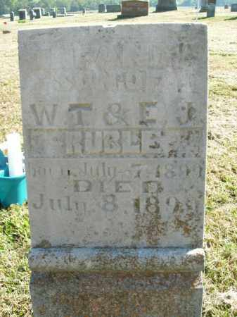RUBLE, INFANT SON - Boone County, Arkansas | INFANT SON RUBLE - Arkansas Gravestone Photos