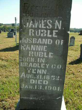RUBLE, JAMES N. - Boone County, Arkansas | JAMES N. RUBLE - Arkansas Gravestone Photos