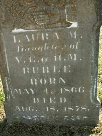 RUBLE, LAURA M. - Boone County, Arkansas | LAURA M. RUBLE - Arkansas Gravestone Photos
