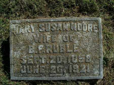 MOORE RUBLE, MARY SUSAN - Boone County, Arkansas | MARY SUSAN MOORE RUBLE - Arkansas Gravestone Photos