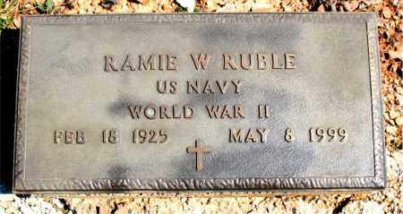 RUBLE  (VETERAN WWII), RAMIE W - Boone County, Arkansas | RAMIE W RUBLE  (VETERAN WWII) - Arkansas Gravestone Photos