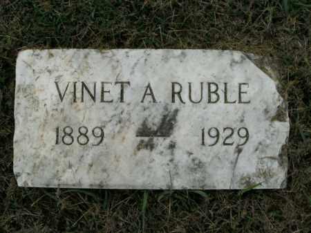 RUBLE, VINET A. - Boone County, Arkansas   VINET A. RUBLE - Arkansas Gravestone Photos