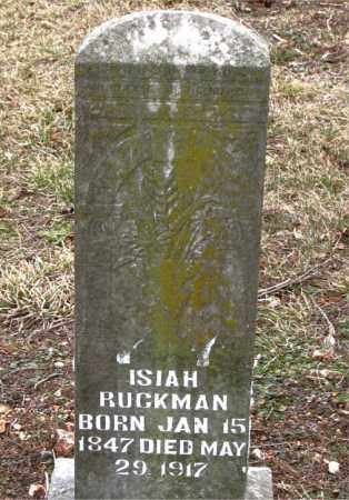 RUCKMAN, ISIAH - Boone County, Arkansas | ISIAH RUCKMAN - Arkansas Gravestone Photos