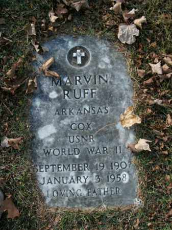 RUFF  (VETERAN WWII), MARVIN - Boone County, Arkansas | MARVIN RUFF  (VETERAN WWII) - Arkansas Gravestone Photos