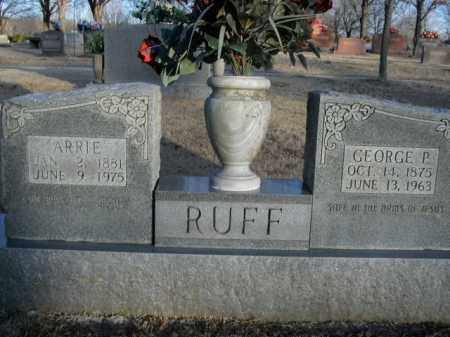 RUFF, GEORGE P. - Boone County, Arkansas | GEORGE P. RUFF - Arkansas Gravestone Photos
