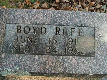 RUFF, BOYD - Boone County, Arkansas | BOYD RUFF - Arkansas Gravestone Photos