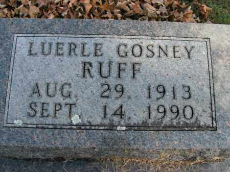 RUFF, LUERLE - Boone County, Arkansas | LUERLE RUFF - Arkansas Gravestone Photos
