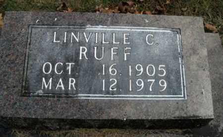 RUFF, LINVILLE C. - Boone County, Arkansas | LINVILLE C. RUFF - Arkansas Gravestone Photos