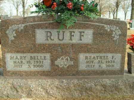 RUFF, REATHEL F. - Boone County, Arkansas | REATHEL F. RUFF - Arkansas Gravestone Photos