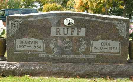 RUFF, ONA - Boone County, Arkansas | ONA RUFF - Arkansas Gravestone Photos