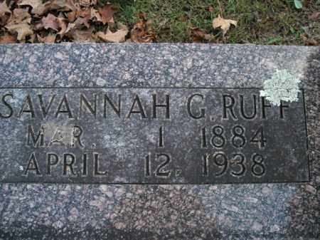 RUFF, SAVANNAH G. - Boone County, Arkansas | SAVANNAH G. RUFF - Arkansas Gravestone Photos