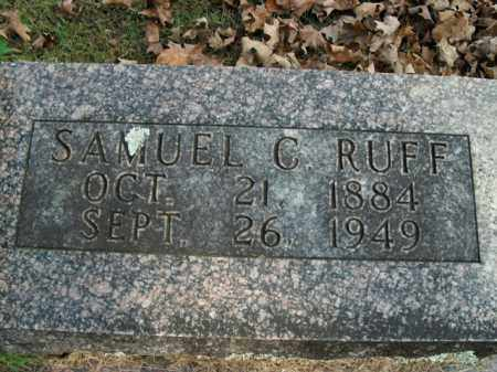 RUFF, SAMUEL C. - Boone County, Arkansas | SAMUEL C. RUFF - Arkansas Gravestone Photos