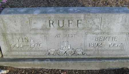 RUFF, VINA - Boone County, Arkansas | VINA RUFF - Arkansas Gravestone Photos