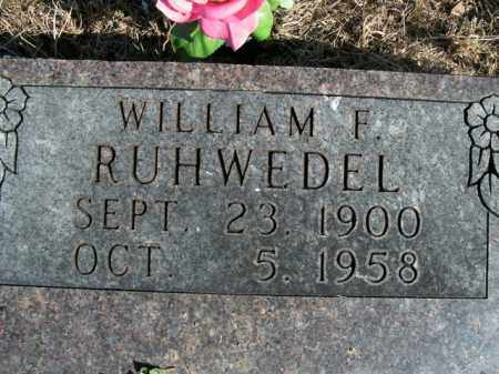 RUHWEDEL, WILLIAM F. - Boone County, Arkansas | WILLIAM F. RUHWEDEL - Arkansas Gravestone Photos