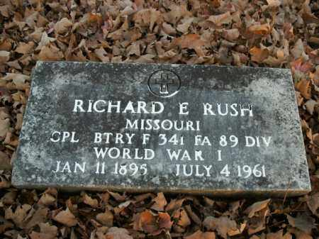 RUSH  (VETERAN WWI), RICHARD E - Boone County, Arkansas | RICHARD E RUSH  (VETERAN WWI) - Arkansas Gravestone Photos