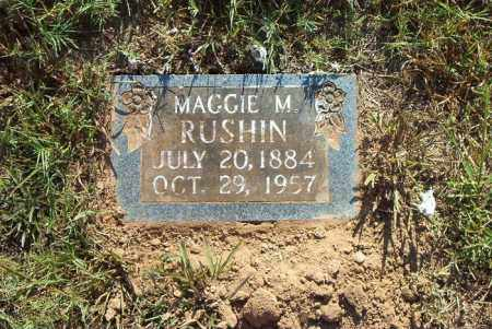 RUSHIN, MAGGIE M. - Boone County, Arkansas | MAGGIE M. RUSHIN - Arkansas Gravestone Photos