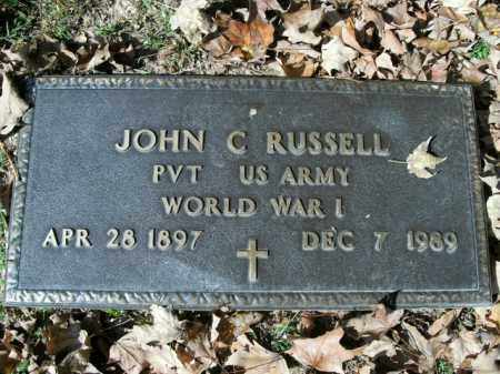 RUSSELL  (VETERAN WWI), JOHN C - Boone County, Arkansas | JOHN C RUSSELL  (VETERAN WWI) - Arkansas Gravestone Photos