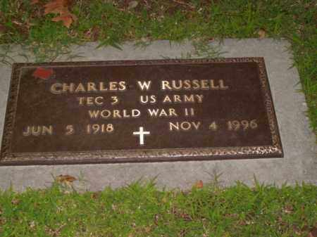 RUSSELL  (VETERAN WWII), CHARLES W. - Boone County, Arkansas | CHARLES W. RUSSELL  (VETERAN WWII) - Arkansas Gravestone Photos