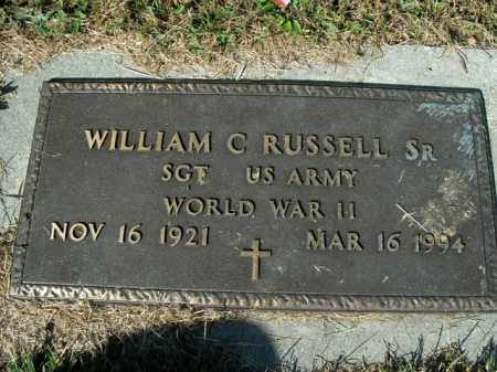RUSSELL, SR.  (VETERAN WWII), WILLIAM C - Boone County, Arkansas | WILLIAM C RUSSELL, SR.  (VETERAN WWII) - Arkansas Gravestone Photos