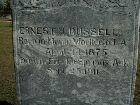 RUSSELL, ERNEST H. - Boone County, Arkansas | ERNEST H. RUSSELL - Arkansas Gravestone Photos