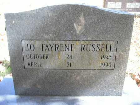 RUSSELL, JO FAYRENE - Boone County, Arkansas | JO FAYRENE RUSSELL - Arkansas Gravestone Photos