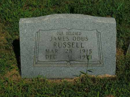 RUSSELL, JAMES ODUS - Boone County, Arkansas | JAMES ODUS RUSSELL - Arkansas Gravestone Photos