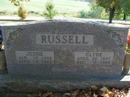 JOHNSON RUSSELL, JESSIE BIFFLE - Boone County, Arkansas | JESSIE BIFFLE JOHNSON RUSSELL - Arkansas Gravestone Photos