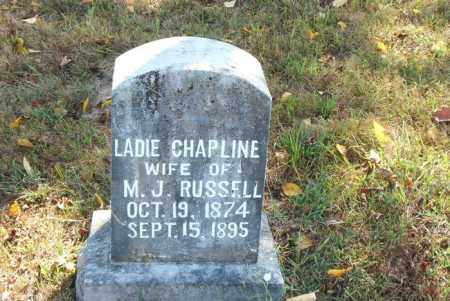 CHAPLINE RUSSELL, LADIE - Boone County, Arkansas | LADIE CHAPLINE RUSSELL - Arkansas Gravestone Photos