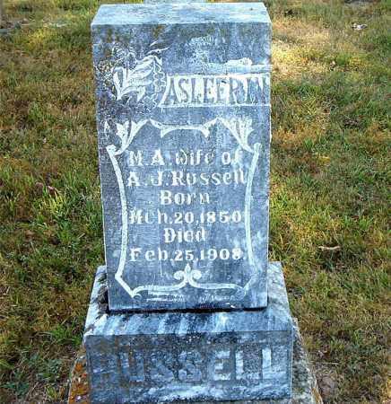 RUSSELL, M.  A. - Boone County, Arkansas | M.  A. RUSSELL - Arkansas Gravestone Photos