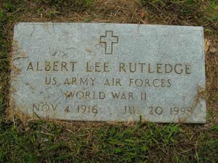 RUTLEDGE  (VETERAN WWII), ALBERT LEE - Boone County, Arkansas | ALBERT LEE RUTLEDGE  (VETERAN WWII) - Arkansas Gravestone Photos