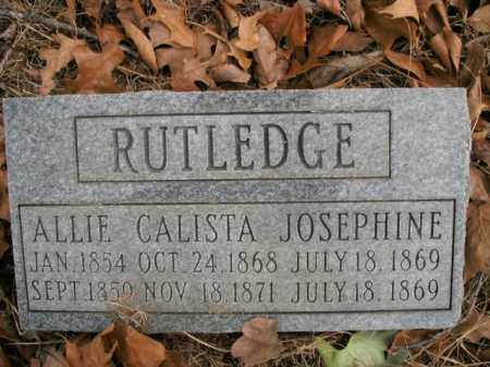 RUTLEDGE, CALISTA - Boone County, Arkansas | CALISTA RUTLEDGE - Arkansas Gravestone Photos