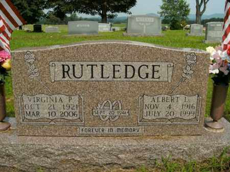 RUTLEDGE, VIRGINIA P. - Boone County, Arkansas | VIRGINIA P. RUTLEDGE - Arkansas Gravestone Photos