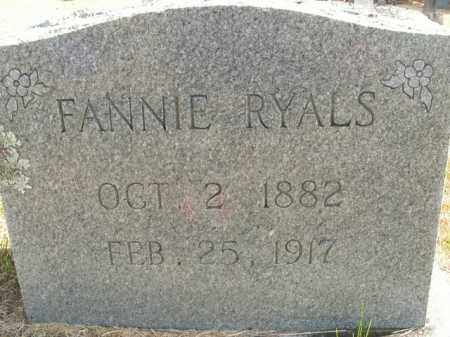 RYALS, FANNIE - Boone County, Arkansas | FANNIE RYALS - Arkansas Gravestone Photos