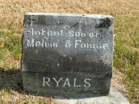 RYALS, INFANT SON - Boone County, Arkansas | INFANT SON RYALS - Arkansas Gravestone Photos