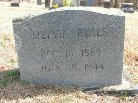 RYALS, MELVIN - Boone County, Arkansas | MELVIN RYALS - Arkansas Gravestone Photos