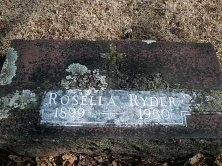 RYDER, ROSELLA - Boone County, Arkansas | ROSELLA RYDER - Arkansas Gravestone Photos