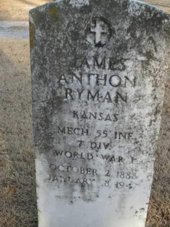 RYMAN  (VETERAN WWI), JAMES ANTHON - Boone County, Arkansas | JAMES ANTHON RYMAN  (VETERAN WWI) - Arkansas Gravestone Photos