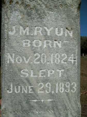 RYUN, J.M. - Boone County, Arkansas | J.M. RYUN - Arkansas Gravestone Photos