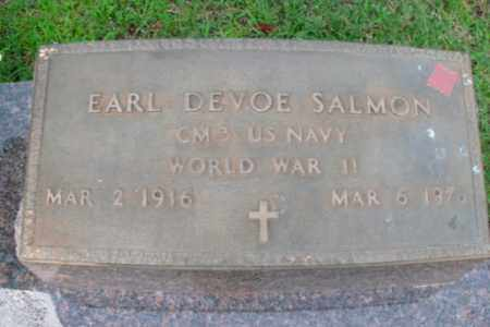 SALMON  (VETERAN WWII), EARL DEVOE - Boone County, Arkansas | EARL DEVOE SALMON  (VETERAN WWII) - Arkansas Gravestone Photos
