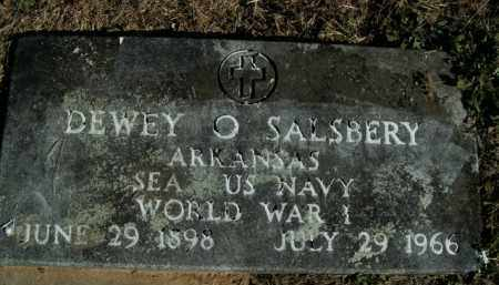 SALSBERY  (VETERAN WWI), DEWEY O - Boone County, Arkansas | DEWEY O SALSBERY  (VETERAN WWI) - Arkansas Gravestone Photos