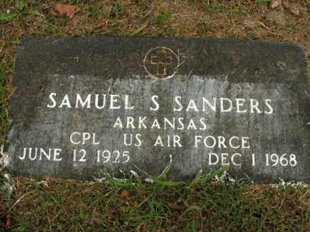 SANDERS  (VETERAN), SAMUEL S - Boone County, Arkansas | SAMUEL S SANDERS  (VETERAN) - Arkansas Gravestone Photos