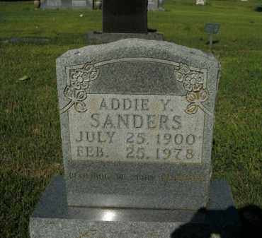 SANDERS, ADDIE Y. - Boone County, Arkansas | ADDIE Y. SANDERS - Arkansas Gravestone Photos