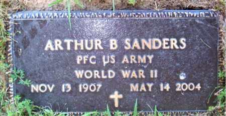 SANDERS  (VETERAN WWII), ARTHUR  B - Boone County, Arkansas | ARTHUR  B SANDERS  (VETERAN WWII) - Arkansas Gravestone Photos