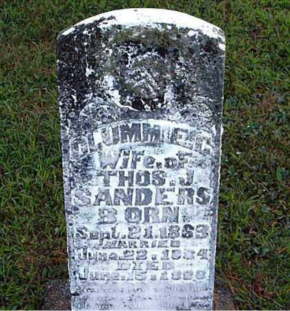 SANDERS, CLUMMIE  C. - Boone County, Arkansas | CLUMMIE  C. SANDERS - Arkansas Gravestone Photos