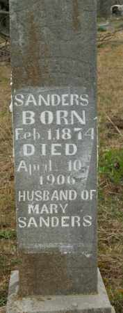 SANDERS, CHIVES M. - Boone County, Arkansas | CHIVES M. SANDERS - Arkansas Gravestone Photos