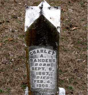 SANDERS, CHARLEY  A. - Boone County, Arkansas | CHARLEY  A. SANDERS - Arkansas Gravestone Photos