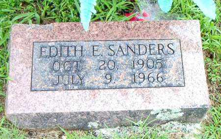 SANDERS, EDITH E. - Boone County, Arkansas | EDITH E. SANDERS - Arkansas Gravestone Photos