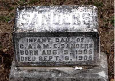 SANDERS, INFANT DAUGHTER - Boone County, Arkansas | INFANT DAUGHTER SANDERS - Arkansas Gravestone Photos