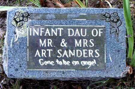 SANDERS, INFANT DAUGHTER - Boone County, Arkansas | INFANT DAUGHTER SANDERS - Arkansas Gravestone Photos